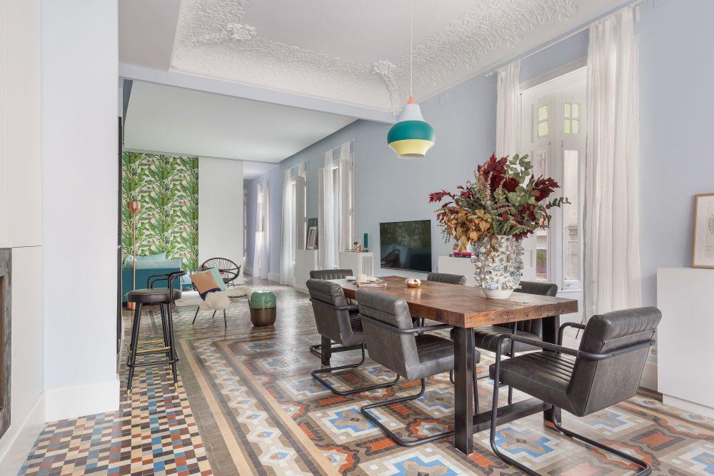 Interior de la Casa fotografía de arquitectura Sala marketing inmobiliario Signimo