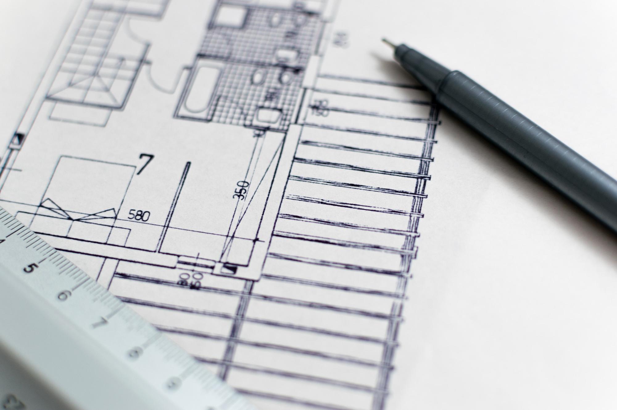 elevación de la arquitectura de Planta casa marketing inmobiliario Signimo